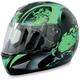 Green Stunt FX-95 Helmet