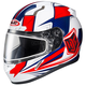 Red/White/Blue CL-17SN MC-1H Striker Helmet w/Frameless Dual Lens Shield