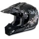 Youth Black Stunt FX-17 Helmet