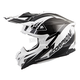 White/Black VX-35 Krush Helmet