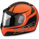 Orange Phantom Peak Helmet
