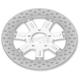 11.8 in. Front Chrome Delmar Two-Piece Brake Rotor - 01331800DELLSCH