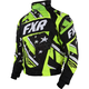 Black/Lime Stars and Steipes Helix Jacket