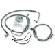 Front Clear-Coated Braided Stainless Steel Brake Line Kits - 1204-2756
