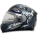 Silver FX-90SE Danger Helmet w/Electric Dual Lens Shield