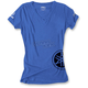 Women's Royal Blue Yamaha  V-Neck T-Shirt