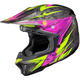 Black/Hi-Viz Neon Green/Pink MC-8 CL-X7 Pop 'N Lock Helmet