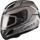 Flat Black/Dark Silver GM44S Glacier Modular Snowmobile Helmet