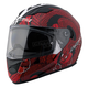 Red/Black/White Snakebite Stream FF328 Full Face Helmet with Sunshield