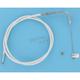 Custom Sterling Chromite II Designer Series Alternative Length Braided Throttle Cables for Custom Handlebars - 33216