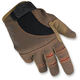 Brown/Orange Moto Gloves