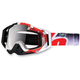 Red Destruct Racecraft Goggles w/Clear Lens - 50100-037-02