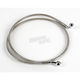 Front Clear-Coated Braided Stainless Steel Brake Line Kits - 1204-2746