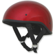Candy Apple Red FX-200 Slick Beanie Style Half Helmet