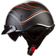 Black/Orange/White/Gray Crazy SC3 Half Helmet with Sunshield