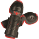 Youth Black/Red Flex II Knee Guards - 28-3069