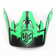Hi-Viz Neon Green/Black MC-4F Visor for CS-MX Helmets - 0970-6020-04