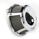 Chrome Slot Track Inverted Series Air Cleaner Kit - 18-924