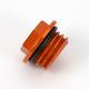 Aluminum Orange Anodized Oil Filler Plug - 24-020