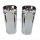 Chrome +2 in. Deep Cut Fork Boot Slider Covers - 20-027