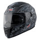 Black/Gray/White Anti-Hero Stream FF328 Full Face Helmet w/Sunshield