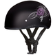 Skull Cap w/Purple Rose Half Helmet
