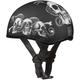 Skull Cap w/Snake Skulls Half Helmet