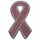 Pink Ribbon Helmet Bling - PCHBRIBBON