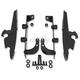 Batwing Black Trigger Lock Hardware - MEK1955