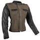 Women's Brown Six Speed Sisters Leather/Denim Jacket