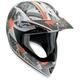 White/Orange MTX Evolution Helmet