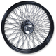21 in. x 3.25 in. Black 80-Spoke Front Wheel Assembly w/Twisted Spokes - 16120
