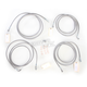 Stainless Steel Cable and Brake Line Kit For Use with 12-14 Inch Ape Hangers w/ABS - LA-8052KT-13