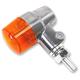 Aluminum Round #3 Single Filament LED Marker Lights w/Amber Lens - 26-8602