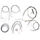Black Vinyl Handlebar Cable and Brake Line Kit for Use w/15 in. - 17 in. Ape Hangers - LA-8110KT2B-16B