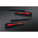 Black/Red LED Saddlebag Extensions - 7171