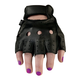 Womens Black 243 Half Leather Gloves