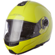 Yellow Strobe FF325 Modular Helmet with Sunshield