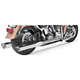 Chrome True Duals Racing Exhaust System - HD00220