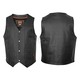 Black Leather Ten Pocket Vest