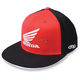 Black/Red Honda Big Wing Flex-Fit Hat