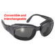Black Airfoil Sunglasses w/Smoke Lens - 9100