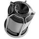 Black Beveled Re-Usable Oil Filter - 03-463