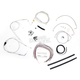 Stainless Braided Handlebar Cable and Brake Line Kit for Use w/15 in. - 17 in. Ape Hangers (w/o ABS) - LA-8006KT2A-16