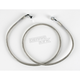 Front Clear-Coated Braided Stainless Steel Brake Line Kits - 1204-2749