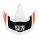 White/Orange/Black AX-8 Dual Sport Evo Visor - KIT75002035