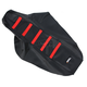Black/Red Ribbed Seat Cover - 0821-1785