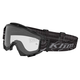 Black/Gray  Blitz Radius Moto Goggles w/Single Clear Lens - 3049-000-000-000