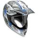 White/Blue MTX Evolution Helmet