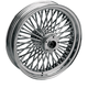 Front Chrome 21 x 2.15 Fat Daddy 50-Spoke Radially Laced Wheel for Single Disc - 0203-0255